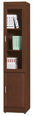 【南洋風休閒傢俱】書架 書櫃 書櫥 展示櫃 收納櫃 造形櫃 置物櫃系列-花線胡桃二門書櫃CY408-525