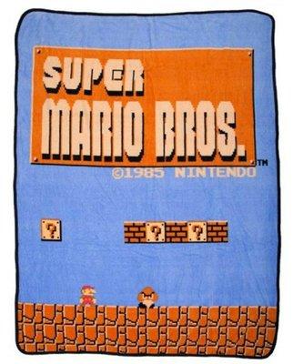[現貨]超級瑪利歐空調毯 任天堂 Super Mario 馬力歐兄弟 動漫趣味毛毯 午睡宿舍交換生日禮品