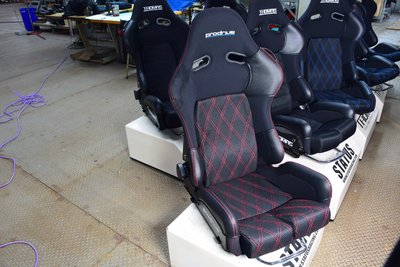 BRIDE GIAS  大腿兩側高版賽車椅皮革防磨保護套 一組5件式 保護椅子避免磨損