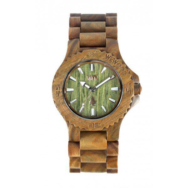 【美國鞋校】特價現貨 義大利 We Wood WEWOOD DATE 木頭錶 軍綠色 木頭指針錶