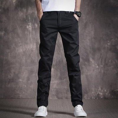 男士長褲 水洗男士休閒褲寬鬆時尚潮流青年修身小腳長褲
