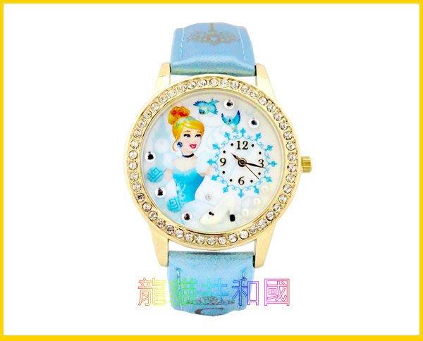 ※龍貓共和國※日本迪士尼Disney《灰姑娘仙度瑞拉 米妮 唐老鴨黛西  鑲鑽手錶 腕錶》 生日情人節禮物【日本正版】C