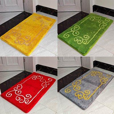 家用金黃色祥云進門地墊門口綠色地毯門墊臥室大紅色吸水防滑墊子