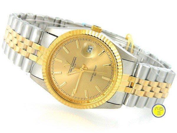 @(六四三鐘錶精品店)@Valentino(真品)手錶.來自義大利的品牌.18K中金色錶殼及錶
