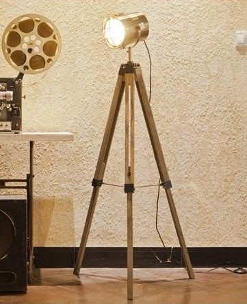 【優上精品】大北歐宜家木質落地燈探照燈現代簡約LED客廳臥室大號燈(Z-P3156)
