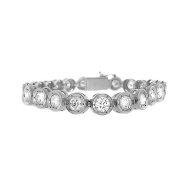 【JHT 金宏總珠寶/GIA鑽石專賣】10.00ct天然鑽石手鍊/材質:18K(JB44-A11)