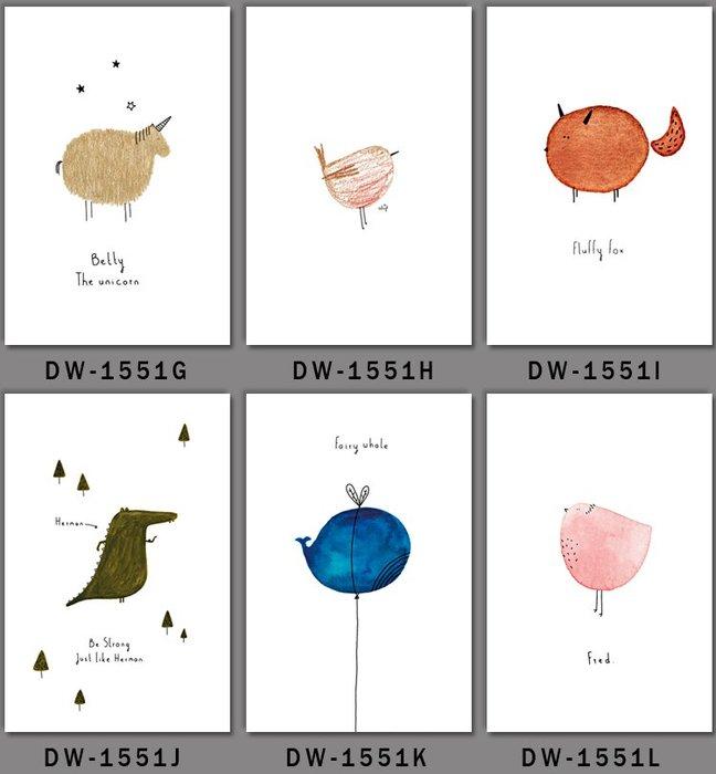 三幅一組油畫布 北歐簡約動物鳥類小清新抽像 畫芯/畫布/30X40☺暖暖屋☺傢居藝術館
