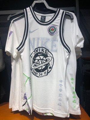 【吉米.tw】NIKE 塗鴉背心 籃球星球 標語 球衣 背圖 白色 CW4814-010 MAR