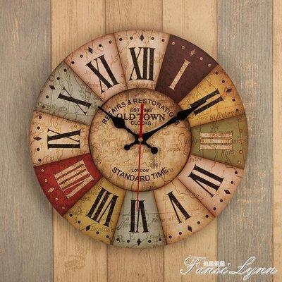 復古懷舊掛鐘歐式客廳臥室辦公室裝飾品靜音鐘錶簡約現代時鐘掛件 HM    全館免運