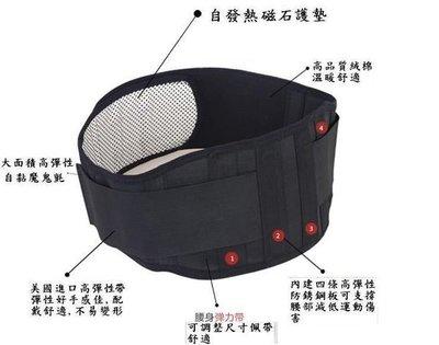 自發熱磁石保健四鋼條強化型運動護腰產後...