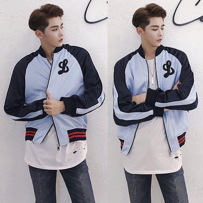 『潮范』 S11 男士重工繡花夾克 走秀韓版潮棉質立領外套 棒球服 運動外套NRG990