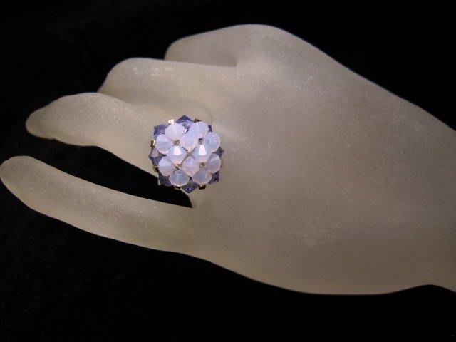 ※水晶玫瑰※ SWAROVSKI 水晶戒指~(HAND57)