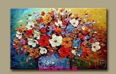 【凱迪豬生活館】全新 厚顏料刀畫/無框畫/配電箱裝飾畫/玄關油畫/單幅抽象花束KTZ-200983