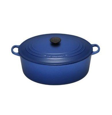 Le Creuset 鑄鐵經典橢圓鍋29CM 英國藍 特價7980元