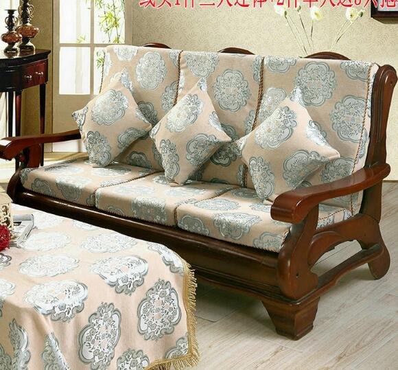 實木沙發墊 帶靠背連體紅木沙發坐墊海綿木沙發墊加厚海綿可拆洗 可定制—莎芭