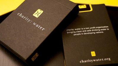 【USPCC 撲克】T11 Charity Water 撲克牌 黑盒 黑黃標