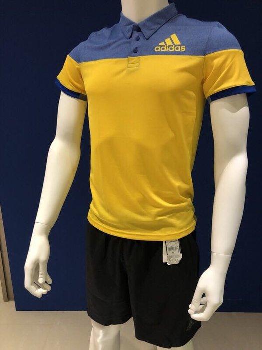 (羽球世家)愛迪達 羽球專業球衣 黑灰撞色設計Colorbl Polo衫 短袖 男版 女版 親水表面