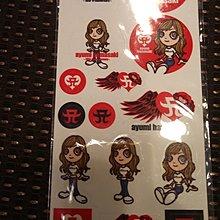濱崎步Q版卡通紀念貼紙(已絕版)保存良好