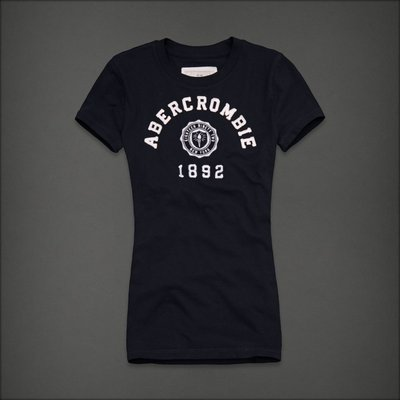 🇺🇸 Abercrombie & Fitch Women Tee T-Shirt  女生 經典絕版刺繡貼布 短袖T恤