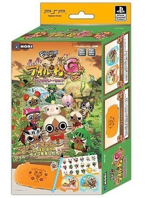 PSP 2000 3000 HORI 魔物獵人日記 暖呼呼艾路村G週邊套件組【台中恐龍電玩】