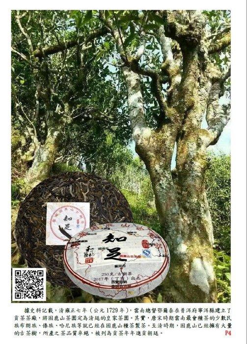 吻潤知足2017年困鹿山古樹茶普洱茶250公克限量400餅分享