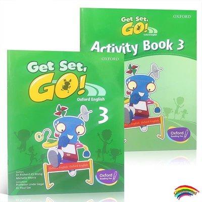 英文原版進口牛津幼兒英語啟蒙教材Get Set Go Book 3學生用書+練習冊Oxford English 可支持牛津點讀筆幼兒園培訓機構教材2-4-7歲
