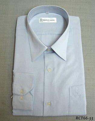 Roberta x 長袖襯衫│諾貝達水藍色細直紋素面襯衫 尺寸41  x 零碼 x  x 買多