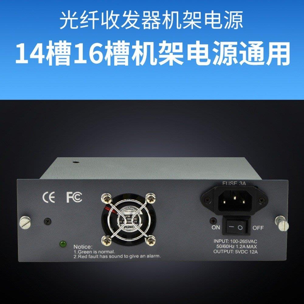 5Cgo【權宇】Haohanxin光纖收發器14槽/16槽 機架通用電源100~265V輸入 DC 5V 2A輸出 含稅