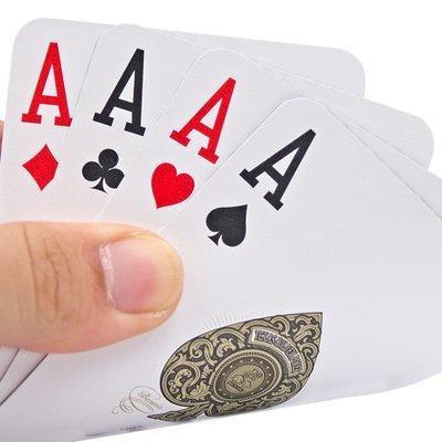 新品上市#德州撲克專用牌 雙面磨砂加厚防水PVC可水洗加長加寬 大字塑料牌