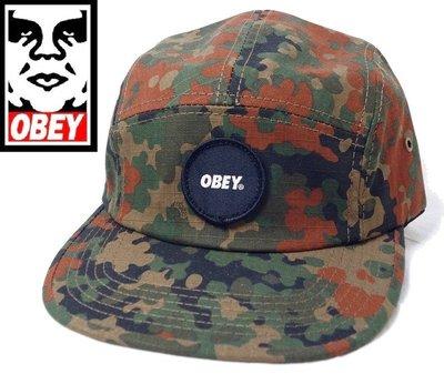 Obey 五分割 棒球帽 嘻哈滑板 街頭潮牌 迷彩野戰 blotch CAMO 軍帽 【以靡正品 imy88】
