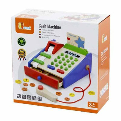 *小貝比的家*VIGA(優質原木教具)-CASH REGISTER 小小收銀員模擬學習收銀機