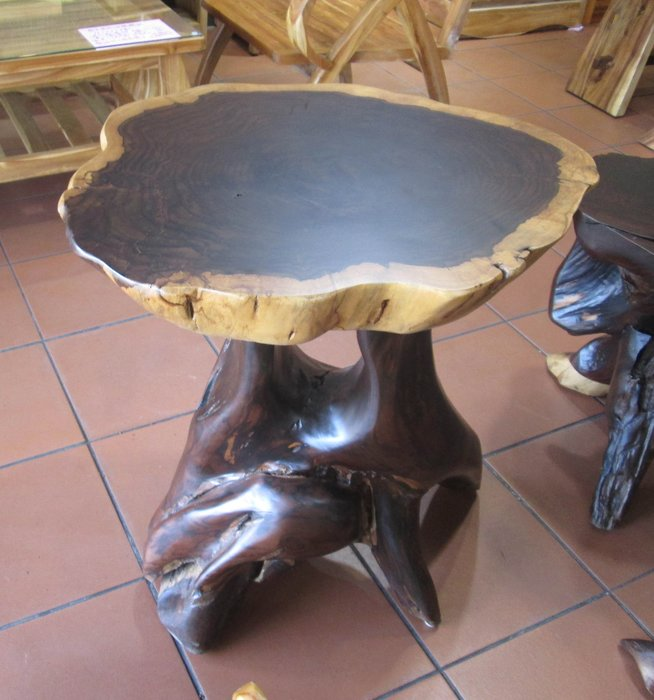 【肯萊柚木傢俱館】珍藏品 大塊紫檀木實木 自然邊造型 紋路優美 泡茶桌 限量收藏