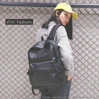 新款韓版學院風大容量PU皮雙肩包男女背包學生書包旅行電腦包 日韓風系背包 時尚挎包手拎包 百搭斜挎包