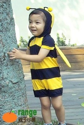 【orange親子小舖】小蜜蜂造形服裝(夏)cosplay/萬聖節服裝/表演服道具服80-100cm台灣製