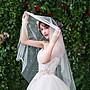 新娘頭紗簡約珍珠網紅拍照攝影頭飾旅拍婚紗...