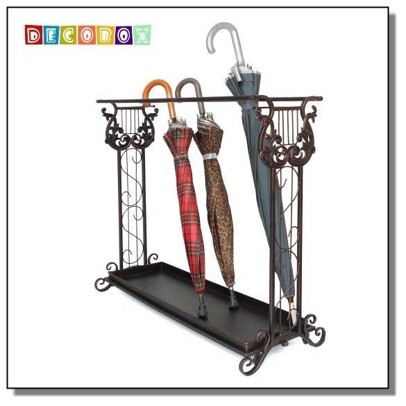 DecoBox豎琴長方形大容量傘架(傘架.紙簍.收納桶.花盆套.鍛鐵藤編.梅雨)
