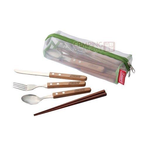 【山野賣客】Coleman 食器組 IV 餐具組 四人份筷子/刀叉/叉子/湯匙 公司貨 CM-5599