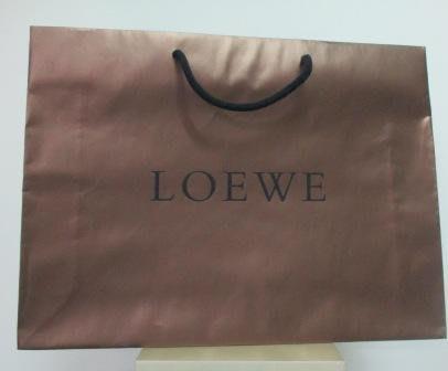 ~LOEWE 横式1 粗繩 紙袋/提袋 42x31x10cm~