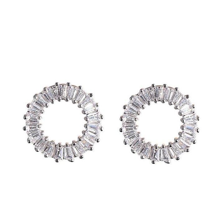 2017韓版新款純銀耳環女 925銀針圓圈耳釘 簡約氣質耳釘防過敏