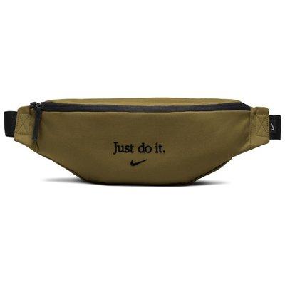 金仕曼 NIKE HERITAGE HIP PACK 綠黑 刺繡 JDI 腰包 斜背包 側背 配件 BA5781-399