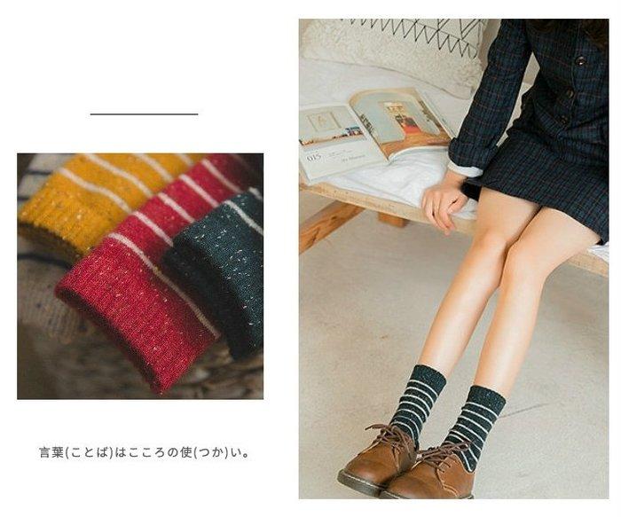 【小阿霏】成人襪子 女學院風點點紗條紋羊毛襪短襪堆堆襪 中筒潮襪AD30