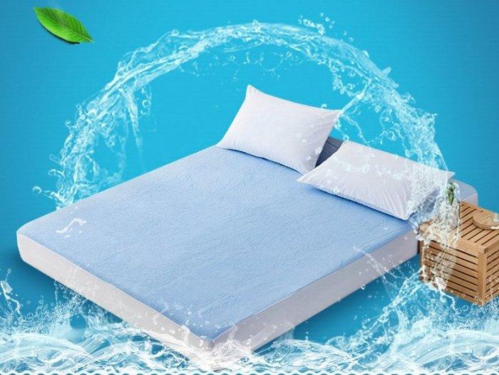 ~幸福家園~可訂製尺寸純棉毛巾布150*200*30防水隔尿床包式保潔墊單件~單人雙人床罩~保護墊~寢具多種尺寸價錢不同