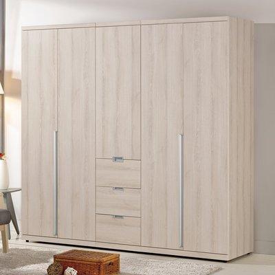 【優比傢俱生活館】19 美麗購-愛莎淺色耐磨木紋6.7尺組合衣櫃/衣櫥-全組 CM536-1