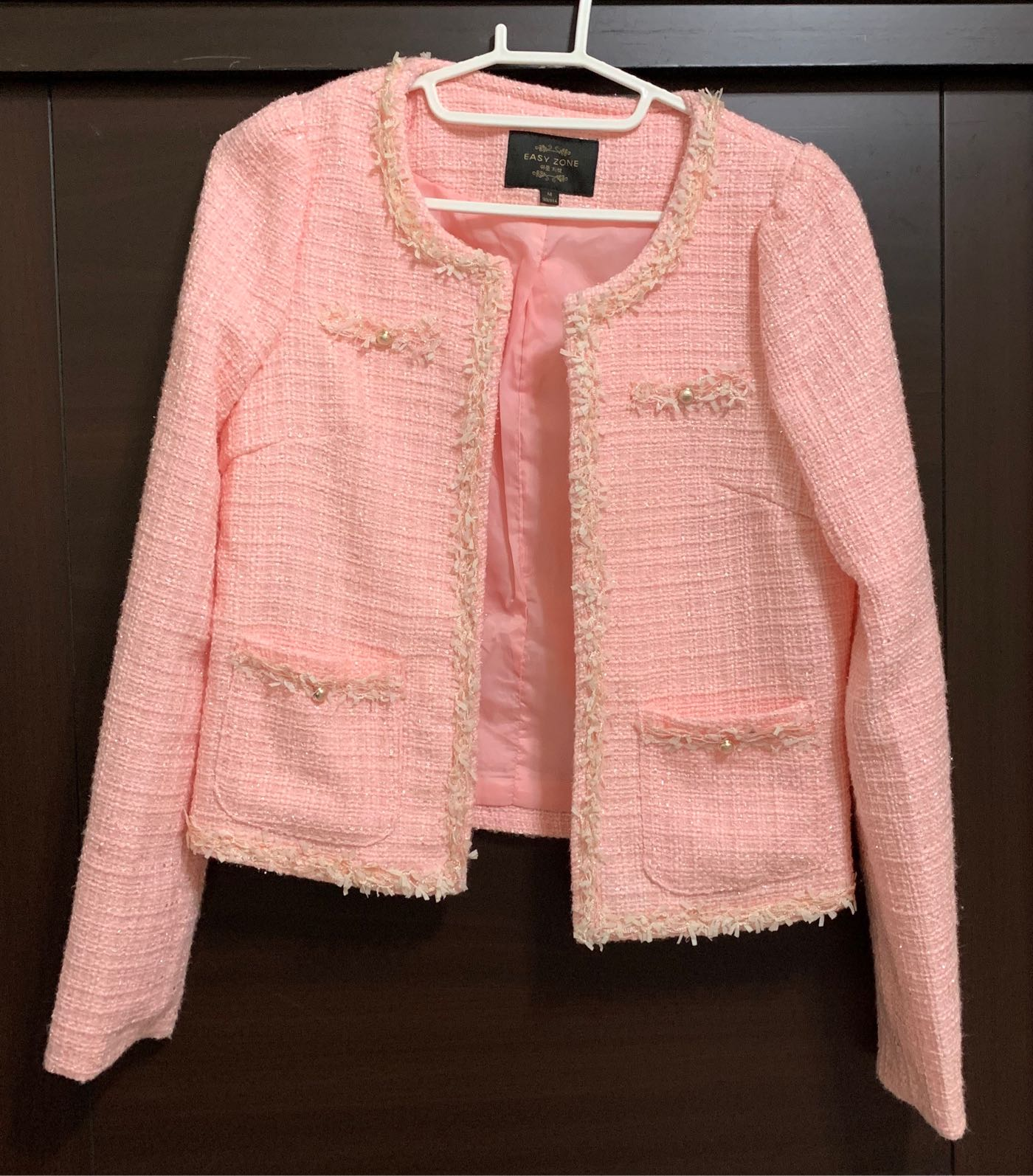 EASY ZONE粉色短外套—近全新免運