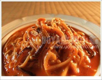 [UOYA悠芽小舖] 金焗泡菜系列 另類韓式泡菜~素香椿針菇~滑溜軟嫩 (純素口味)