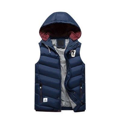 馬甲 外套 連帽 背 心-冬季加厚保暖休閒男夾克4色73qe7[獨家進口][米蘭精品]