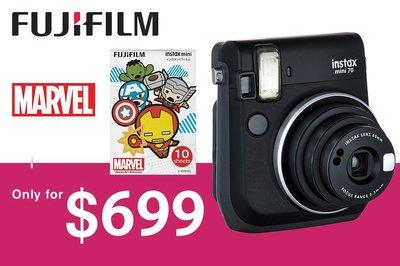 [DJS COMMERCE] Fujifilm Instax mini 70 Midnight Black 富士即影即有相機連 Marvel 復仇者聯盟相紙