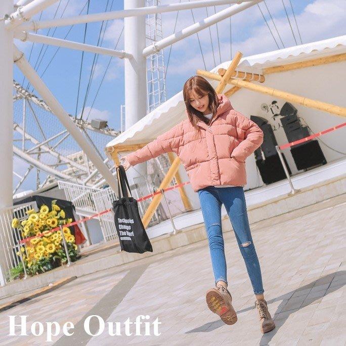 韓國東大門 韓國棉短版連帽鋪棉厚外套 韓國棉大衣 韓國大衣 韓國外套 正韓外套