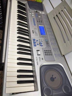 律揚樂器之家 二手 日版 CASIO CTK591 61鍵 電子琴 練習琴 力度 卡拉OK 教練功能 伴奏 節奏 初學