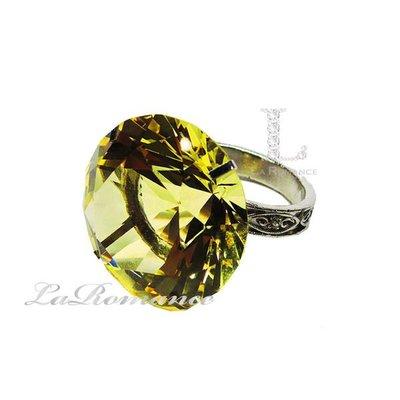 【芮洛蔓 La Romance】 5 cm 水晶鑽戒指造型餐巾環 - 金黃色 / 情人節 / 求婚